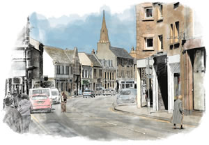 Dalkeith-High-Street-pen--ink