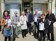 Dalkeith THI/CARS Project team advertising home owners seminar.Photo from Midlothian Advertiser